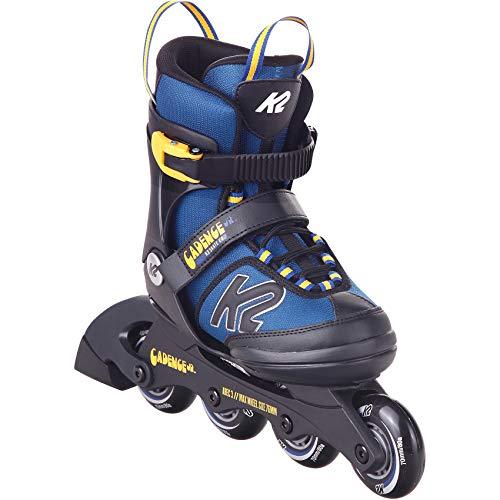K2 Cadence Inline Skates Kinder I Inliner für Jungen I Rollerblades Boys I Inliner für Kinder I Rollschuhe Jungen I Kinder Inliner verstellbar I blue - yellow I S (EU: 29-34 / UK: 10-1 / US: 11-2)