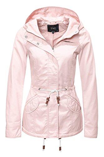 ONLY Damen Jacke Onllorca Spring Parka Jacket CC Otw, Rosa (Cameo Rose), Gr.  L
