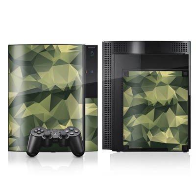 DeinDesign Skin kompatibel mit Sony Playstation 3 Folie Sticker Camouflage Tarnmuster Bundeswehr