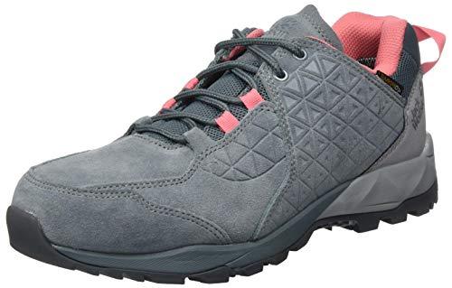 Jack Wolfskin Damen Cascade Hike LT Texapore Low W Outdoorschuhe, Pebble Grey/pink, 41 EU