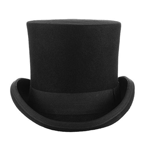 GEMVIE Zylinderhut Magic Partyhüte Erwachsenenhut Hoher Hut für Damen Herren L Kopfumfang 58cm-60cm