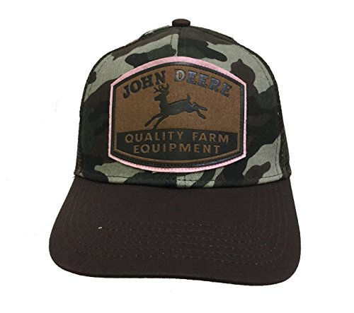 John Deere Womens Brown and Camo Cap