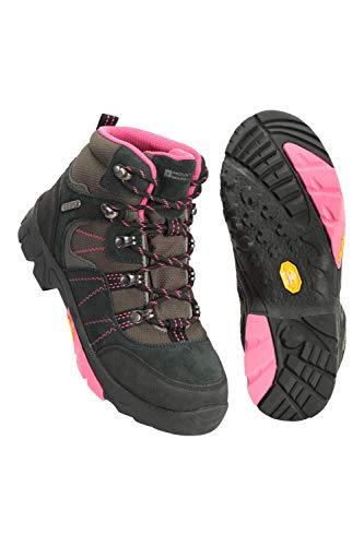 Mountain Warehouse Edinburgh Vibram Youth Wasserfeste Kinder Stiefel - Atmungsaktive, leichte Wanderstiefel, Netzfutter, strapazierfähige Regenstiefel. Wanderschuhe Rosa 36