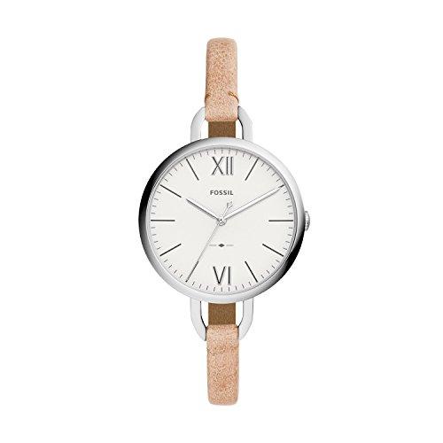 Fossil Damen Analog Quarz Uhr mit Leder Armband ES4357