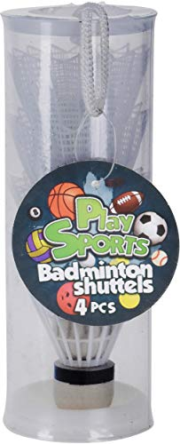 Free and Easy Badminton-Shuttles 4 Stück weiß