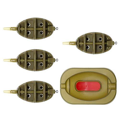 Angel-Inline-Feeder mit Schnellverschluss-Form für Karpfenangeln, Köderzubehör, 15 g, 20 g, 25 g, 30 g, 35 g, 40 g, 50 g, 60 g, 30g.40g.50g.60g