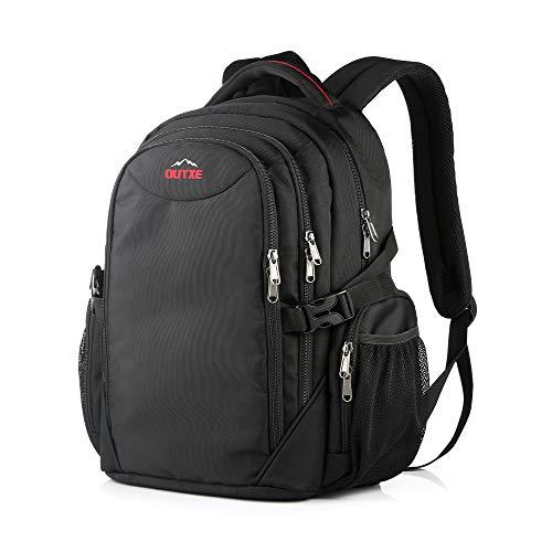 OUTXE Kühltasche Rucksack 20L Picknicktasche Lunchtasche für Camping Wandern Picknick,Schwarz