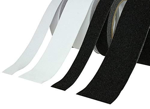 Antirutschband | Klebeband Rutschhemmend PVC | Schwarz oder Transparent, 25mm oder 50mm, 5M oder 10M Extra Grip –große Auswahl- (10M x 25mm, Transparent)