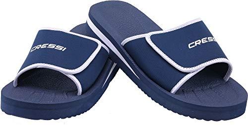 Cressi Unisex– Erwachsene Shoes Panarea Slipper für Strand und Schwimmbad, Blau, 45 EU