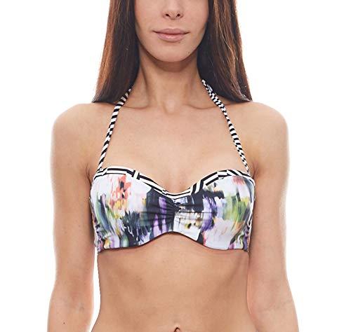 Sunseeker Bikini Oberteil Mix-Kini, Schwarz-Bunt, D36
