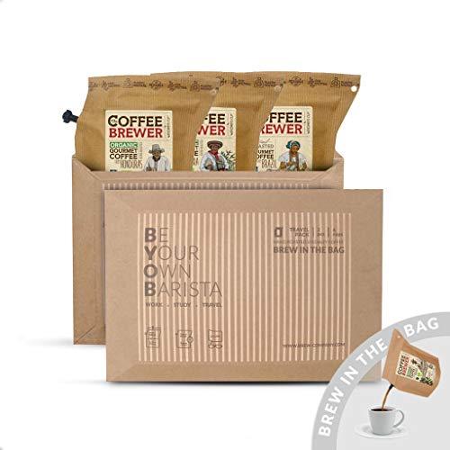 Premium-Kaffee für unterwegs | Coffeebrewer 3er-Pack | Gemahlener, Single Estate, handgeröstet Kaffees aus aller Welt für Deinen Kaffeebecher to go | Tolles Kaffee-geschenk für die Kaffeeliebhaber