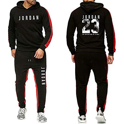 Gofei Herren Damen 23# Jordan Kapuzenpullover Kapuzenpulli Sweatshirt Basketball Sportswear Trainingsanzug Set Jogger Hose Jogginghose