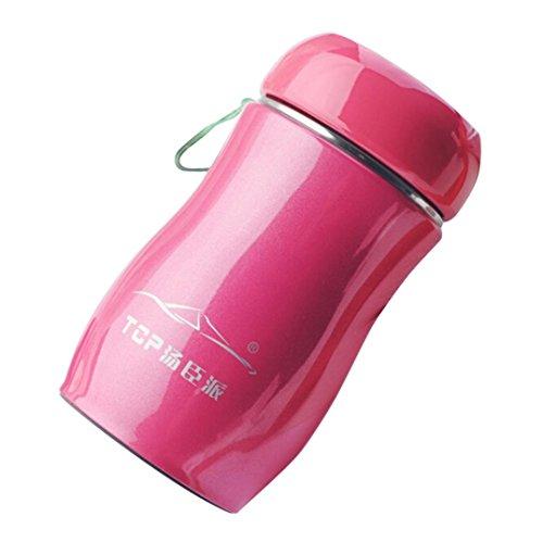 Zarupeng Isolierbecher, 230 ML Edelstahl Vakuum Becher Tasse, Auslaufsichere Thermobecher Kaffeebecher Reise Thermische Flasche (One Size, Hot Pink)