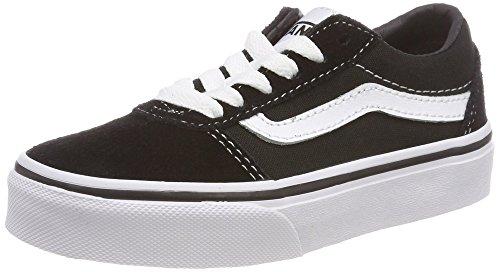 Vans Unisex-Kinder Ward Suede/Canvas Sneaker, Schwarz ((Suede/Canvas) Black/White Iju), 38.5 EU
