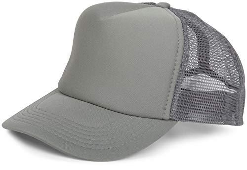 styleBREAKER 5 Panel Mesh Cap, Trucker Baseball Cap, Basecap, verstellbar, Unisex 04023007, Farbe:Dunkelgrau