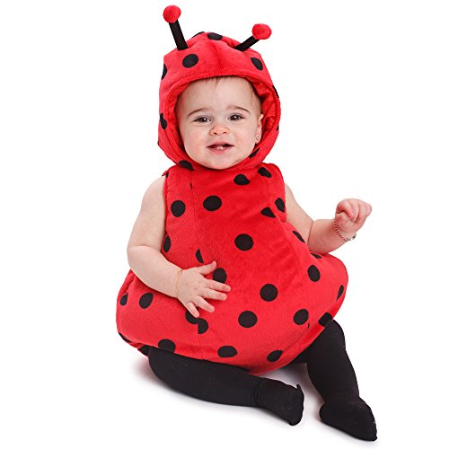 Dress Up America 866-6-12 Outfit-Größe 6-12 Monate Baby Mädchen Marienkäfer Kostüm, (Gewicht 16-21 Lb, Höhe 24-28 Zoll)