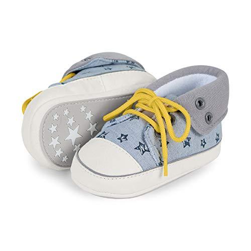 Sterntaler Jungen Baby-Schuh Sneaker, Grau (Rauchgrau 2301911), 16 EU