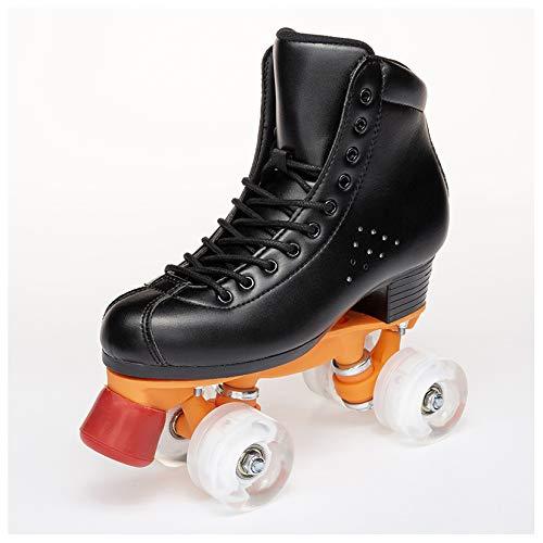 LXLTLB Inline Skates Kinder/Erwachsene verstellbar mädchen/Jungen Inline Skates Rollschuhe PU Verschleißfeste Roller Skates Herren/Dame,B,40
