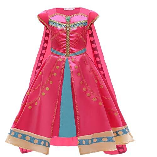 EMIN Aladdin Kostüm Mädchen Jasmin Kleid Prinzessin Kostüm Bauchtanz Weihnachten Halloween Verkleidung Karneval Party Outfit Größe