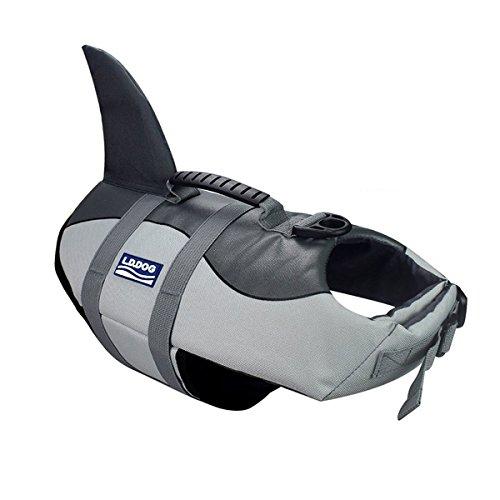 Aokay Pet Hundeschwimmweste Schwimmweste Badeanzug (M, Grau)
