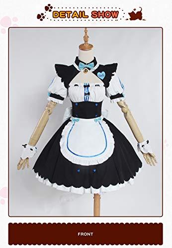 WSJDE Vanille NEKOPARA CosplayVanille Schokolade Maid Kostüm OVA Maid Uniform NEKOPARA Cosplay Katze Neko Mädchen Kostüm Damen S