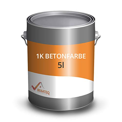 BEKATEQ LS-470 1K Betonfarbe Lichtgrau, 5L I Bodenbeschichtung & Fußbodenfarbe für außen & innen I Betonversiegelung & abriebfester Bodenbelag für Werkstatt, Keller, Schwimmbad, Teich & Industrie