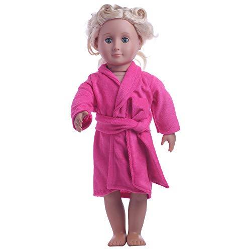 Hinleise Puppen-Bademantel Nachtwäsche für 45,7 cm American Girl Puppe Bademantel Outfit Zubehör (B)