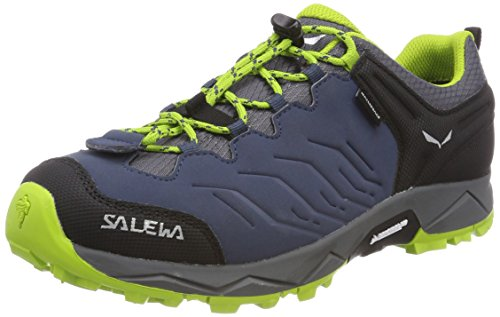 Salewa JR Mountain Trainer Waterproof Trekking-& Wanderstiefel, Dark Denim/Cactus, 31 EU