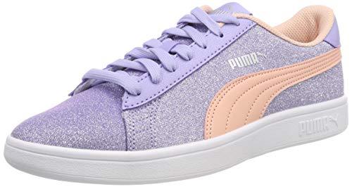 Puma Mädchen Smash v2 Glitz Glam Jr Sneaker, Violett (Sweet Lavender-Peach Bud-Puma Silver-Puma White), 38 EU