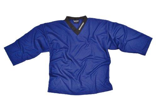 SHER-WOOD - Eishockey Trainingstrikot für Erwachsene I stilvolles Practice Jersey aus gelochtem, Blau, Gr. XXL