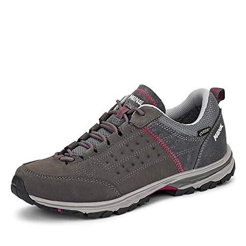 Meindl Damen Durban GTX Schuhe, Grau/Bordeaux, 35 EU