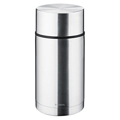 Isosteel Vakuum-Isolierbecher Isolierbehälter für Lebensmittel, Edelstahl, 7.4 x 7.4 x 21.8 cm