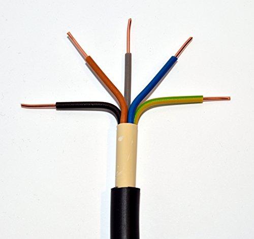 METERWARE Erdkabel NYY-J 5x16 mm² RE schwarz 5x16 qmm RE Starkstromkabel Energiekabel - bestellte Menge entspricht der gelieferten Gesamtlänge