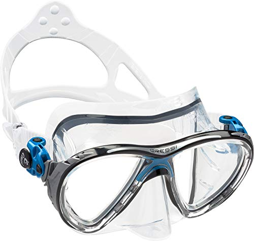 Cressi Unisex - Erwachsene Taucherbrille Big Eyes Evolution, blue, DS336020
