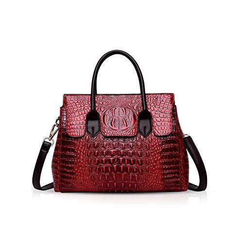NICOLE & DORIS Taschen Handtaschen designer taschen Krokodil Top umhängetasche luxuriöse ledertasche damen PU Leder Weinrot