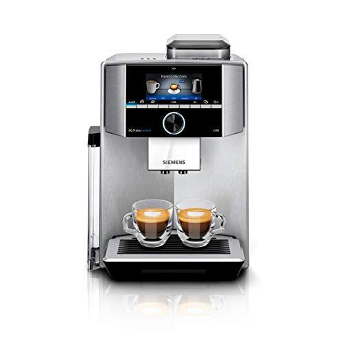 Siemens EQ.9 plus connect s500 Kaffeevollautomat TI9555X1DE, automatische Reinigung, Personalisierung, extra leise, 1.500 Watt, edelstahl