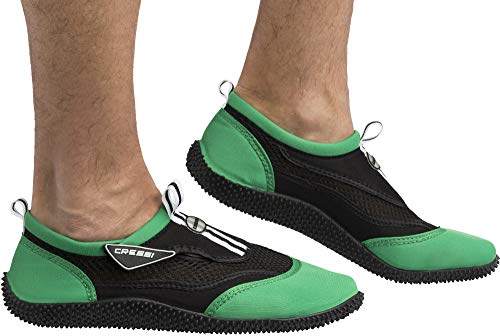 Cressi Unisex Reef Shoes Badeschuhe, schwarz (Schwarz/Lime), 39 EU