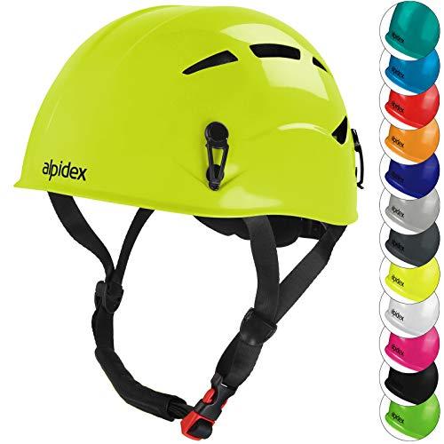 ALPIDEX Universal Kletterhelm für Herren und Damen Klettersteighelm in unterschiedlichen Farben, Farbe:Lime Green