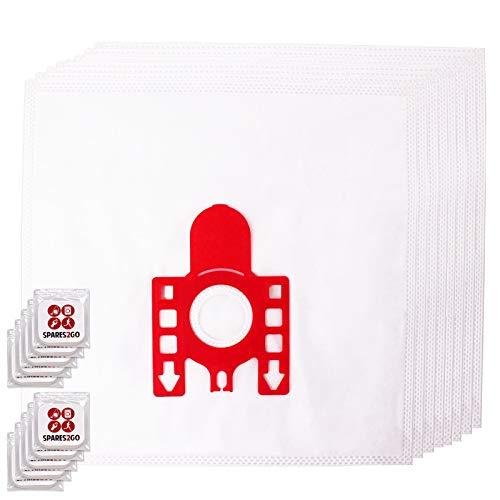 Spares2go FJM Hyclean Staubsaugerbeutel, kompatibel mit Miele S200-299 S241 256i S290 Staubsauger (Packung mit 8 Beuteln + Lufterfrischer-Tabs)