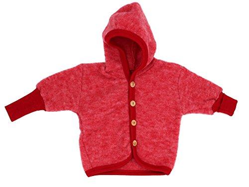 Cosilana Jäckchen mit Kapuze, Größe 74/80, Farbe Rot Melange - Vertrieb nur durch Wollbody®