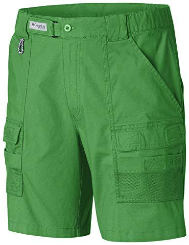 Columbia Herren Half Moon III Short UV Sonnenschutz Utility Pockets, Herren, Half Moon™ Iii Short, Clean Green, Small x 8