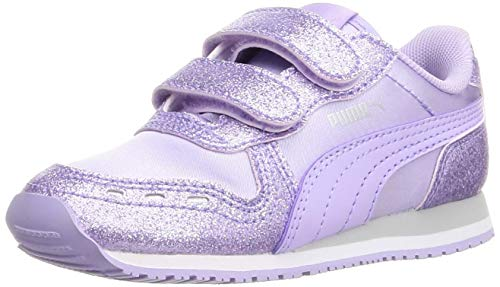 Puma Baby-Mädchen Cabana Racer Glitz V INF Sneaker, Light Lavender-Light Lavender Silver, 24 EU