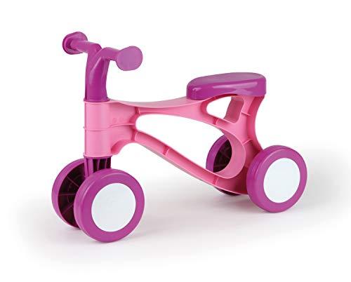 Lena 07166 - Lauflernroller My first Scooter, rosa und pink, für Mädchen, Roller zum Laufen lernen für Kinder ab 18 Monate, robustes Laufrad im modernen Design, mit Sitz und verzinkten Stahlachsen