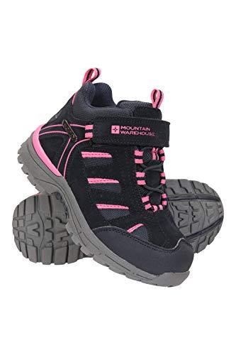 Mountain Warehouse Drift Junior Stiefel für Kinder - Wasserfeste Wanderstiefel, strapazierfähig, atmungsaktiv,mit griffiger Sohle Marineblau Kinder-Schuhgröße 25.5 DE