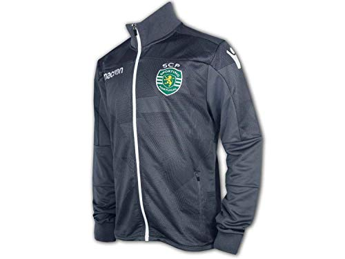 Macron Sporting Lissabon Jacke grau Sporting Clube de Portugal Anthem Jacket, Größe:M