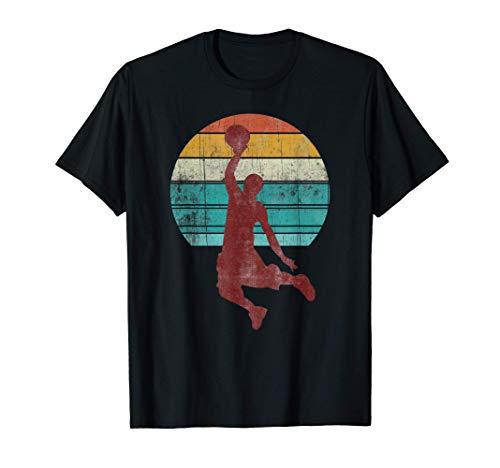 Retro Basketball Basketballspieler Geschenk Jungen Teenager T-Shirt