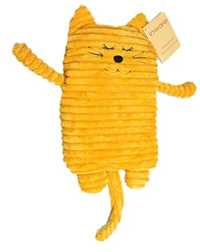 Inware 8717 - Wärmetier Katze, gelb, 17 x 26 cm, Füllung herausnehmbar