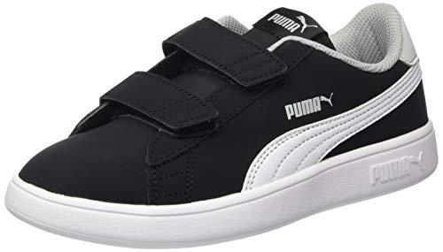 Puma Unisex-Kinder Smash V2 Buck V Ps Sneaker, Schwarz Black White-High Rise, 29 EU