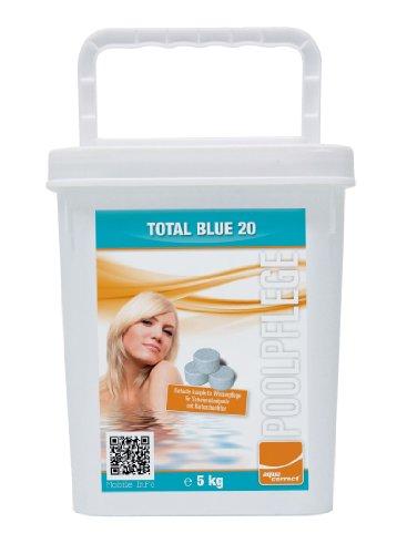 Steinbach Poolchemie Total Blue 20 (Chlor, Algezid, pH-Stabilisierung), Aquacorrect, 20 g / 5 kg