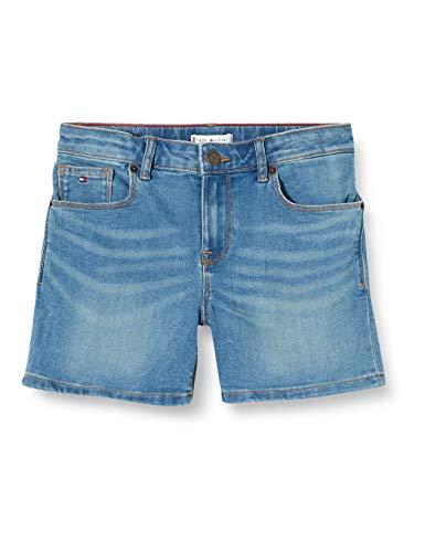 Tommy Hilfiger Mädchen Nora Basic Oclbst Short, Blau (Ocean Light Blue Stretch 1aa), One Size (Herstellergröße: 86)